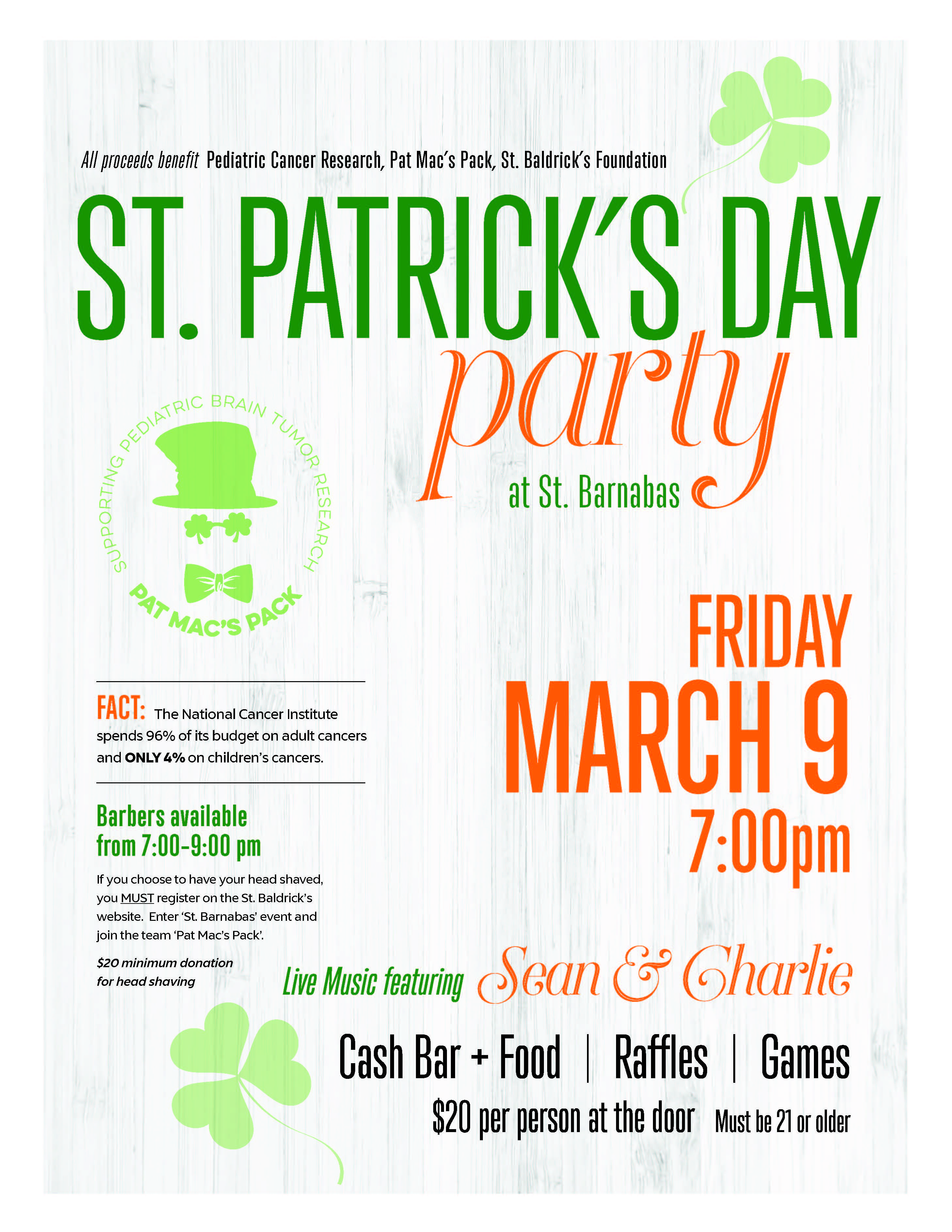 Join Us For Our Annual St Patrick S Day Party To Kick Off The Holiday On Friday March 9 Night Will Feature Live Music From Sean Charlie