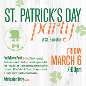 St. Patricks Day Party at St. Barnabas